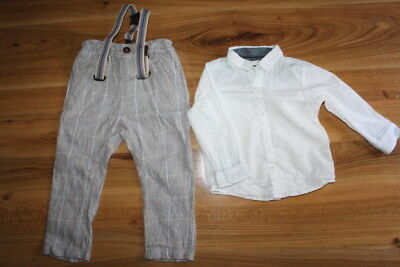NEXT boys shirt trousers with braces bundle 12-18 months *I'll combine postage