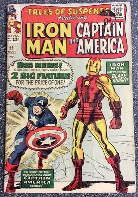 Tales Of Suspense #59 (1965) 1st Appearance Jarvis - 1st Double Feature Issue