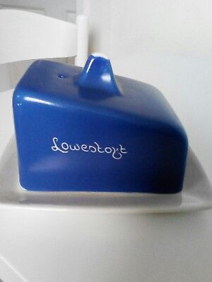 Torquay/devon Ware Blue & White 'lowestoft' Cheese Dish  Unmarked