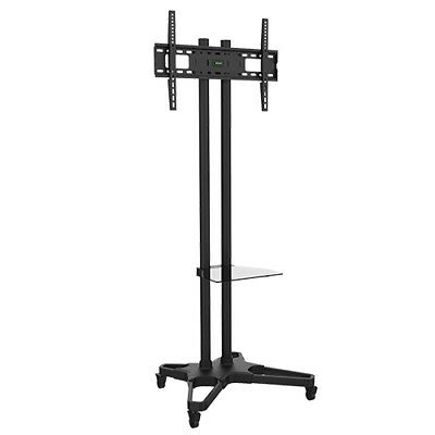"NEW T1021B BRATECK PORTABLE TV CART W/CASTORS - FITS LCD SCREEN SIZES 37"" &.j."