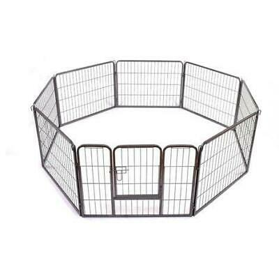 8 Side Heavy Duty Medium Play Pen Dog Puppy Enclosure Metal Fence Run Cage Fence