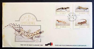 Zimbabwe / Rhodesia 1989 Geckos Of Zimbabwe First Day Cover **see Scans**