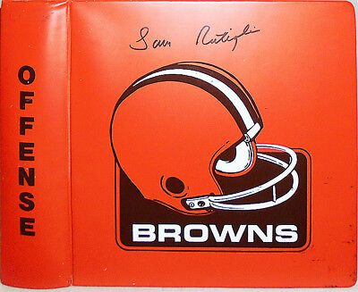 1981 -Cleveland Browns- Vintage Game-Used NFL Football Coach's Offense Playbook