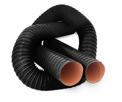 """76mm / 3"""" Silicone 2 Ply Black 1 Metre Air Ducting Flexible Duct Cold & Hot"""