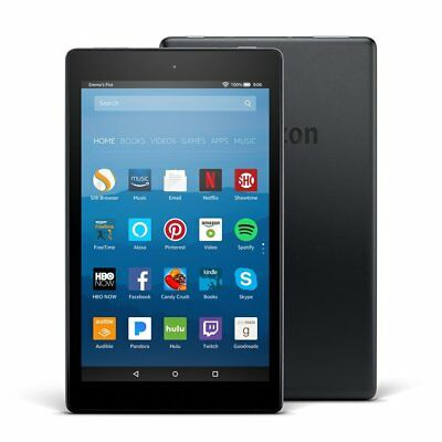 Amazon Kindle Fire Black HD 8 Tablet with Alexa 16GB, Wi-Fi, 8in- New 2017