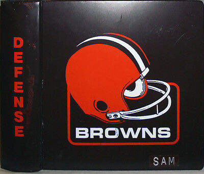 1980 -Cleveland Browns- Vintage Game-Used NFL Football Coach's Defense Playbook