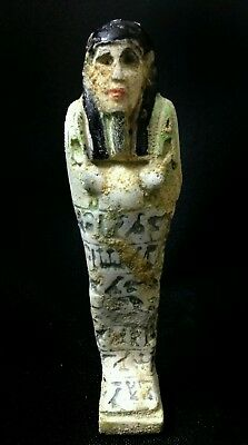 Antique Egyptian Ushabti shabti of a priest