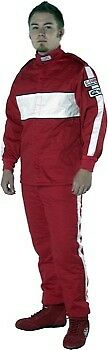 G-FORCE Jacket 4385LRGRD; GF-505 Large SFI 3.2A/5 Triple Layer Red