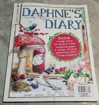 DAPHNE'S DIARY MAGAZINE, ISSUE 7 2017, NEW Free Priority Shipping!
