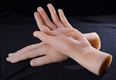 Lifelike top quality silicone male hand mannequin arbitrarily bent /posed/soft
