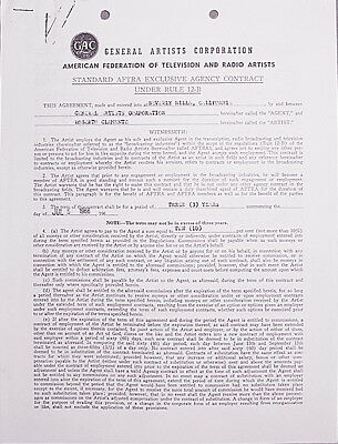 -Rare- 1966 -Roberto Clemente- Vintage Agent Baseball Contract- from His Estate!