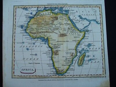 1815 Baldwin Cradock Joy Map Africa 202 Yr Old Genuine Antique