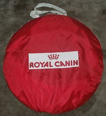 Royal Canin Dog Puppy Agility Training Tunnel Chute 4ft Red Collapsible Portable