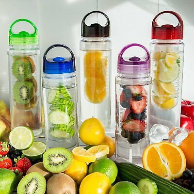 Fruit Infuser Water Bottle 24 Oz - BPA Free, Tritan Plastic Hydration Made Easy!