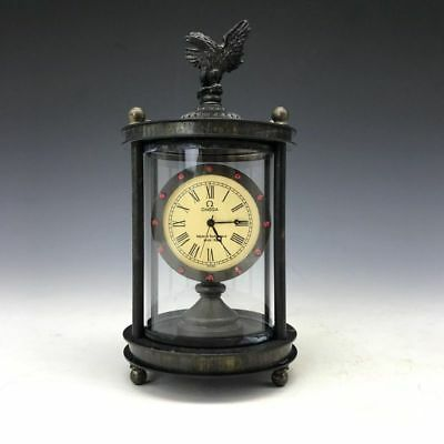 Collection of ancient mechanical clock set eagle three-dimensional sculpture