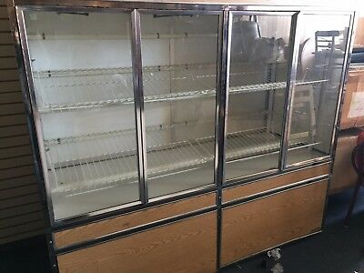 72''  GLASS DRY Bakery Display CASE Opens Both Side