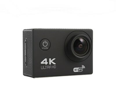 VIDEO CAMARA ACCION DEPORTIVA 4K ULTRA HD - WIFI - NEGRO - SUMERGIBLE 30 metros