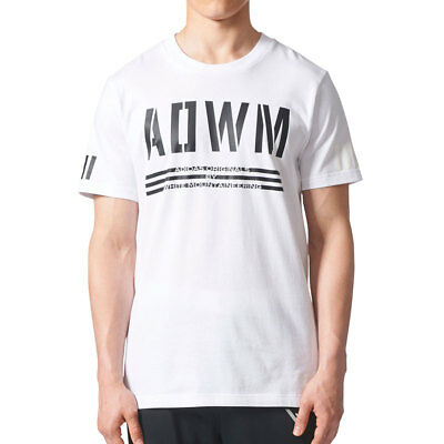 ADIDAS ORIGINALS WHITE Mountaineering Men's T Shirt WhiteBlack bq4107