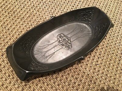 Stylish Art Nouveau Pewter Dish Circa. 1900, Possibly WMF?
