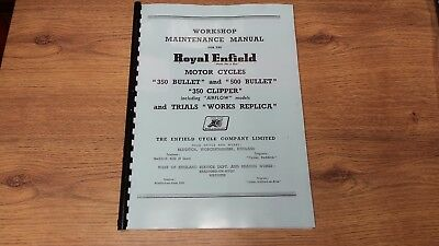 Royal Enfield Bullet & Clipper 350 & 500 Bullet  Workshop Manual - REW08