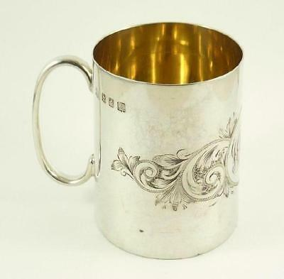 Small Sized Antique Scottish Sterling Silver Christening Mug - Glasgow 1909
