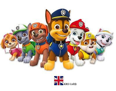 LARGE PAW PATROL SILHOUETTE Kids Birthday Party Banner Wall Decor Poster Gift UK