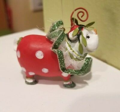 Patience Brewster Krinkles Mini Christmas Ornament Dog Bull Dog Dept 56