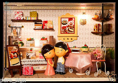 DIY Handcraft Miniature Project Kit Dolls House The Young Couple's Cake Shop