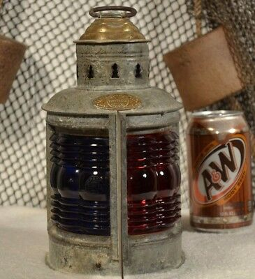 National Marine Lamp Co. Combination Port & Starboard Nautical Lantern