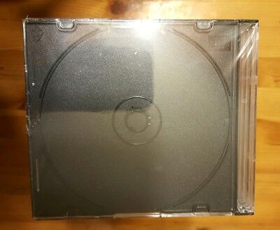 CD/DVD Standard Jewel Cases 50 per Pack Clear Storage Transparent Set
