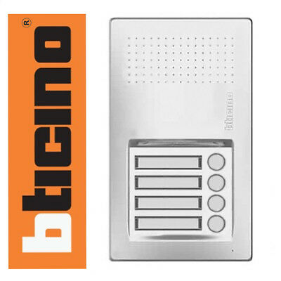 Bticino Terraneo 2 WIRE 2 FILI Linea Audio 4 Button Door Entry Intercom Panel