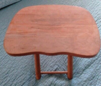 Vintage Nevco Wood Stool Fold and Fold'n Carry Yugoslavia Camping Tail Gate