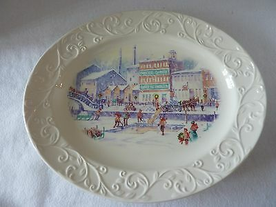 NEW Procter Gamble P&G 2011 Serving Platter ~ Winter Scene Of Cincinnati Factory