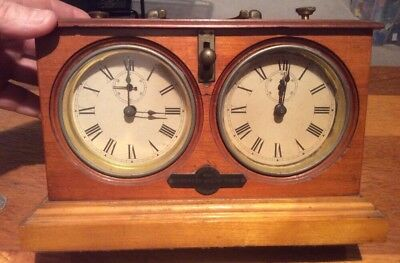 Vintage Original Jaques & Son Congress Chess Timer  Chess Clock Regd London
