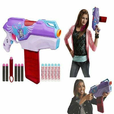 Nerf Rebelle Rapid Red Fun Blaster Kids Girls Toy Gun Game Darts Rifle Kids Gift