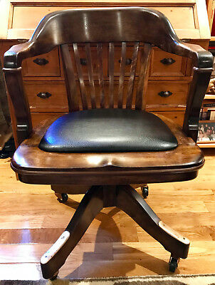 Gunlocke Solid Maple Banker Chair (Professionally Restored)