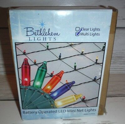 bethlehem lights 56 x 42 christmas net light with 42 multi color mini