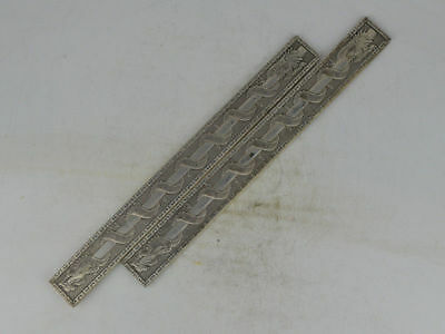 Collectible Old Tibet Silver carving Ssangyong The Pearl bookmark