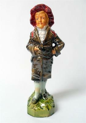 Antique 19th Century Staffordshire Figure Boy Young Man Stamped Makers Mark