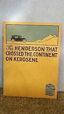 *1913* The Henderson Company car Automobile Dealer 8 page booklet