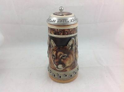 Anheuser Busch Call Of The Wild Series Mountain Lion Stein Le 0254/10000