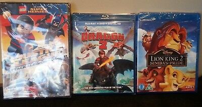 How to Train Your Dragon 2 (Blu-Ray/DVD/Digital HD),Bluray Lion King 2 & LegoNew