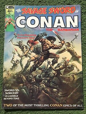August Vol.1,No.1 The Savage Sword Of Conan 1974 (NM-) Rare in amazing shape!!!