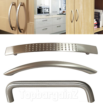 Kitchen Cupboard Handles Cabinet Drawer Door Brushed Stainless Steel Boss Bar