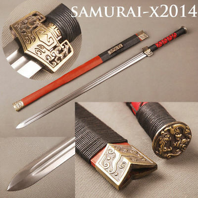 "Folded steel blade Hand-forged Chinese sword ""吳京漢劍"" for practise and collection"