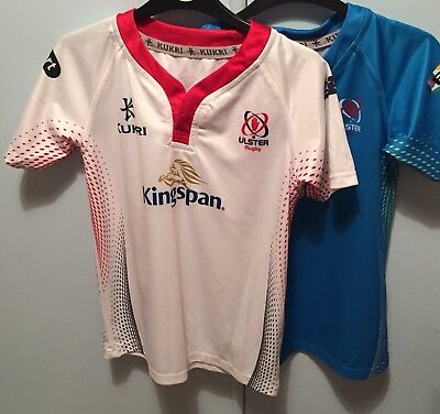 Kukri Ulster Rugby Short- Sleeved Shirts, size 11 - 12
