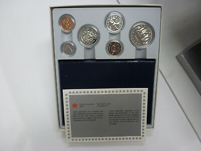 1986 Canada Royal Canadian Mint Specimen Coin Set