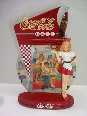Coca Cola Bradford Exchange 4Th Issue Coca Cola Time Cafe Figurine Plate.