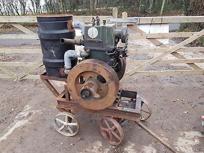 Ruston Hornsby class VYO vintage classic diesel stationary engine on Trolley
