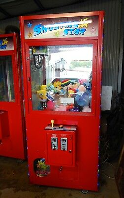 Skill Tester Arcade Machine Full Of Plush Toys And Prizes